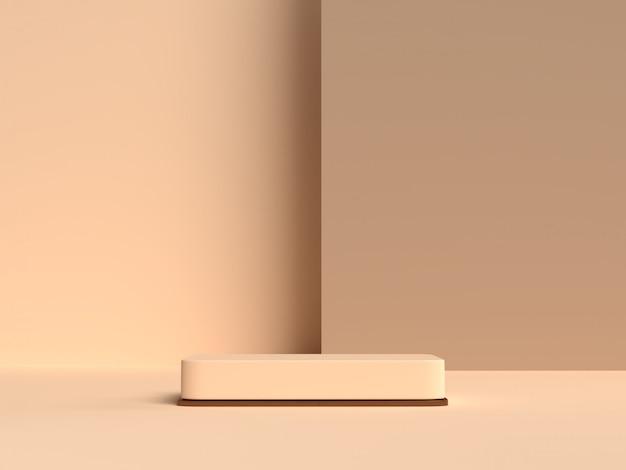 Abstrakcyjne kształty geometrii sceny renderowania podium