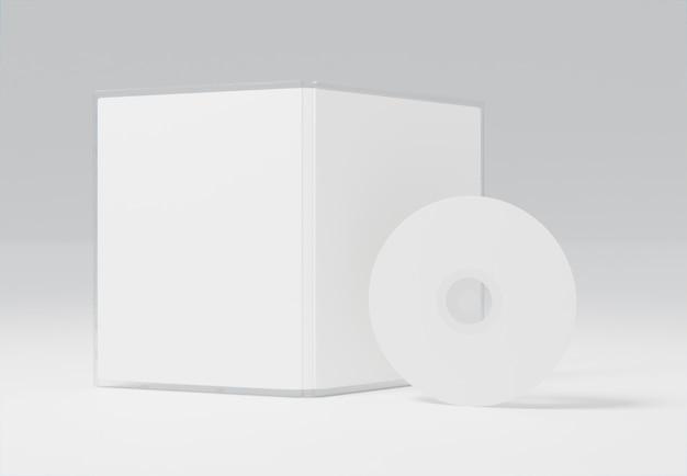 Abstrakcyjne opakowanie do gier i makieta cd