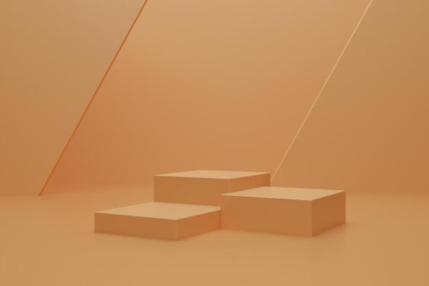 Abstrakcyjne podium renderowania 3d do prezentacji produktu