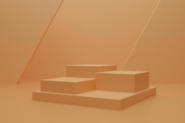 Abstrakcyjne podium renderowania 3d do reklamy produktu