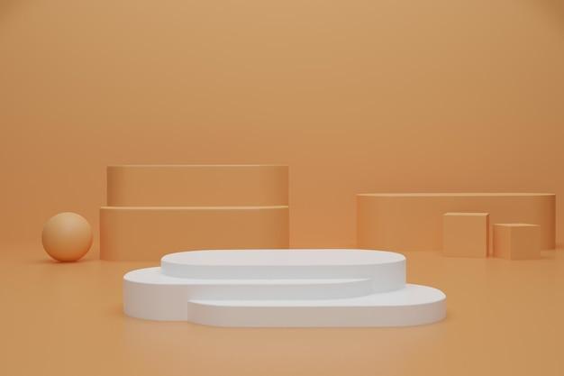 Abstrakcyjne podium renderowania 3d do wyświetlania produktu