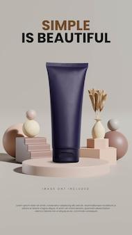 Abstrakcyjny minimalistyczny geometryczny szablon podium