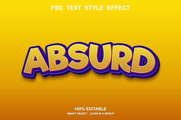 Absurdalny efekt tekstowy można edytować