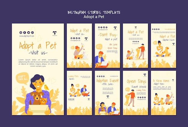Adoptuj opowieści o instagramie zwierzaka
