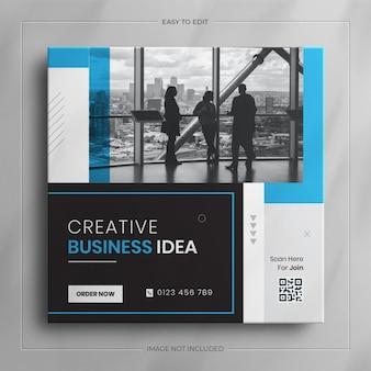 Agencja marketingu cyfrowego i korporacyjny post w mediach społecznościowych i szablon historii na instagramie
