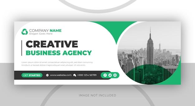 Agencja marketingu cyfrowego i szablon okładki korporacyjnego facebooka