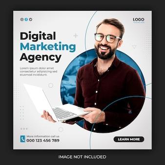 Agencja Marketingu Cyfrowego I Szablon Postu W Korporacyjnych Mediach Społecznościowych Darmowe Psd