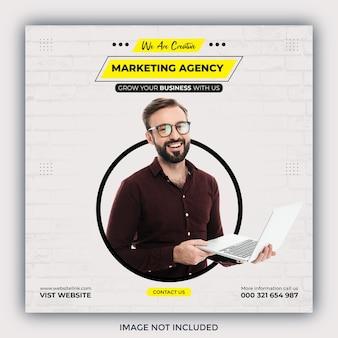 Agencja marketingu cyfrowego i szablon postu w mediach społecznościowych