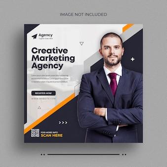 Agencja marketingu cyfrowego post w mediach społecznościowych postinstagram post baner internetowy lub szablon okładki na facebooku