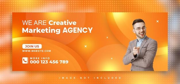 Agencja marketingu cyfrowego projekt okładki na facebooku
