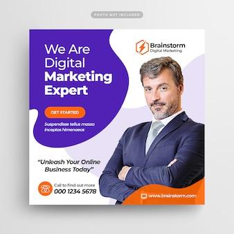 Agencja marketingu cyfrowego social media post & web banner