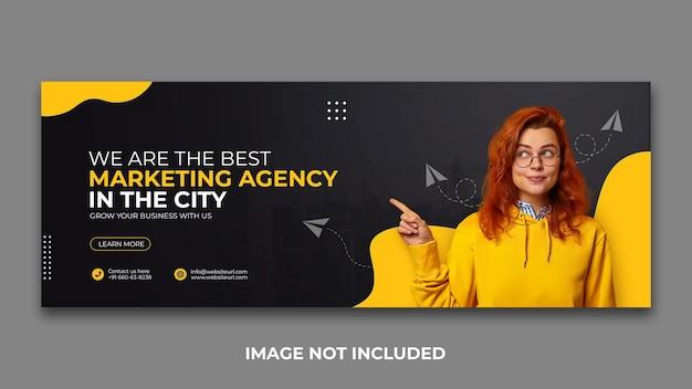 Agencja marketingu cyfrowego w mediach społecznościowych szablon projektu okładki na facebooka