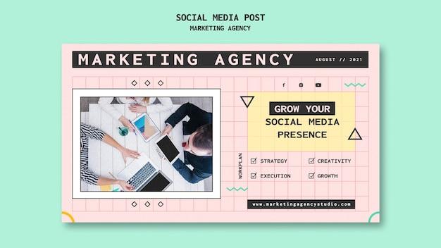 Agencja marketingu w mediach społecznościowych post w mediach społecznościowych