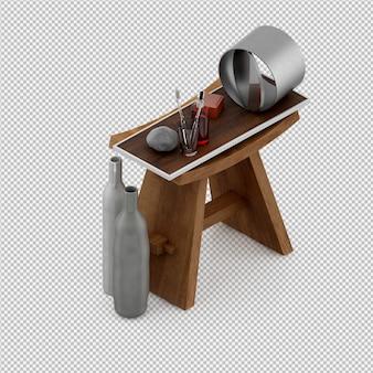 Akcesoria łazienkowe izometryczny 3d renderowania odizolowane