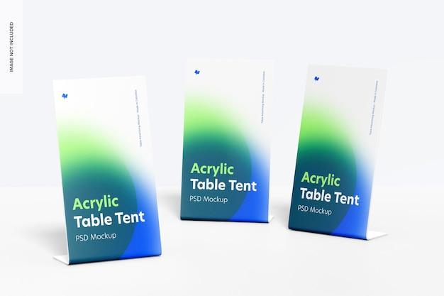Akrylowy zestaw namiotów stołowych makieta
