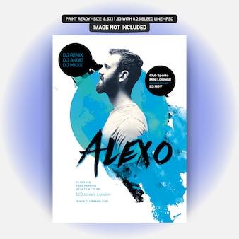 Alexo dj party flyer