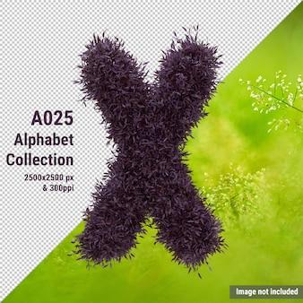 Alfabet pozostawia literę x