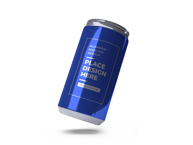 Aluminiowy napój gazowany może makieta na białym tle