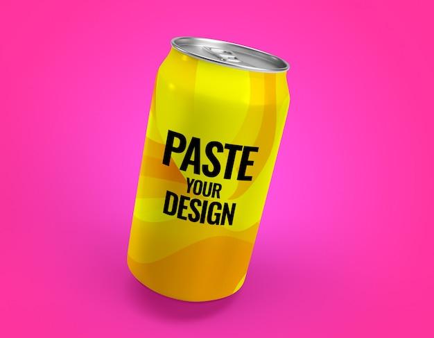 Aluminiowy napój gazowany może naśladować rendering