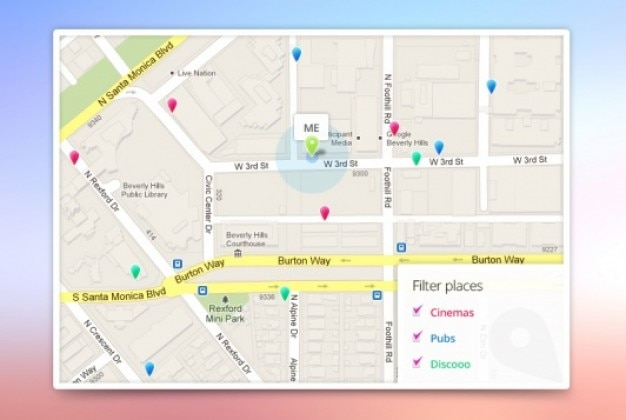 Aplikacji google maps template