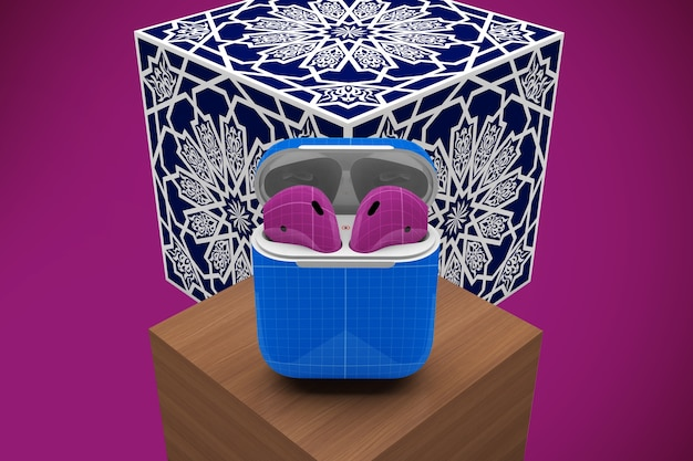 Arabska makieta etui na słuchawki