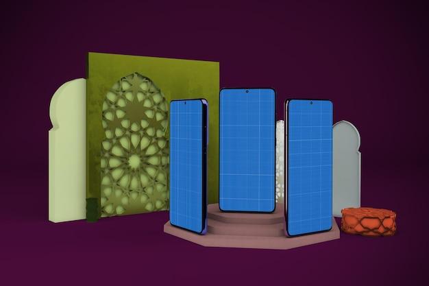 Arabska makieta smartfona