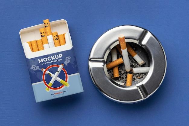 Aranżacja makiety dnia bez tytoniu