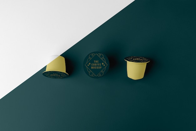 Aranżacja makiety elementów kawiarni