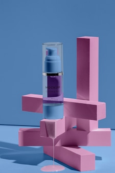 Aranżacja makiety kosmetyku z roztapiającymi się elementami