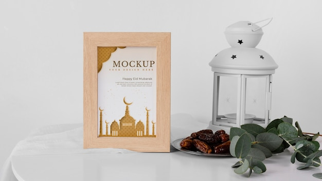 Aranżacja makiety ramy ramadan w pomieszczeniu