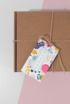 Aranżacja z makietą tagu pudełka rzemieślniczego