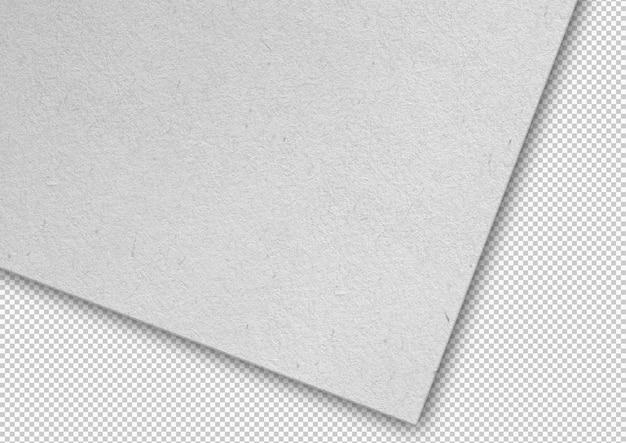 Arkusz białego papieru na białym tle