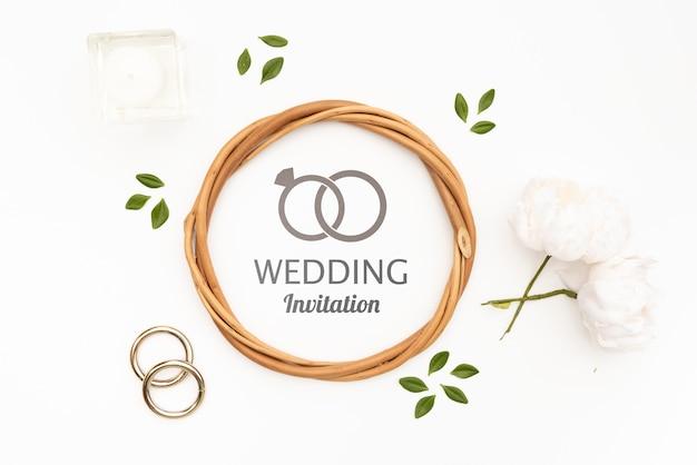 Artystyczna rama zaproszenia ślubne
