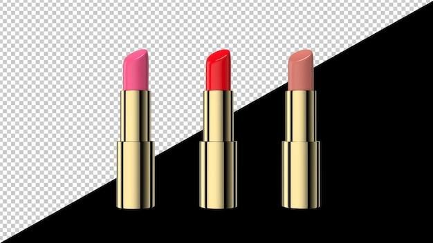 Ashion kolorowe szminki na białym tle