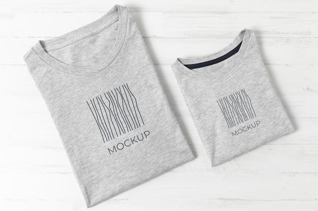Asortyment makiety koszulek na dzień ojca