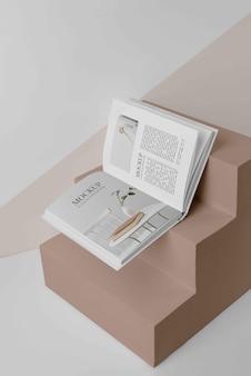 Asortyment makiety okładki książki