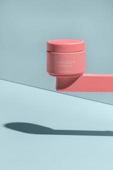 Asortyment makiety produktów do pielęgnacji skóry