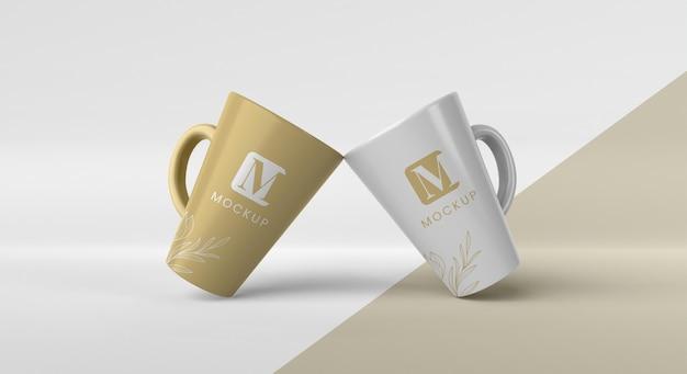 Asortyment minimalnych kubków do kawy