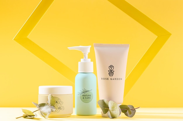 Asortyment produktów kosmetycznych