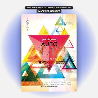 Auto beatz party flyer