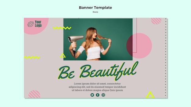 Bądź piękny szablon sieci web banner