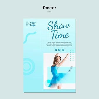 Baletnica plakat z szablonem zdjęcia