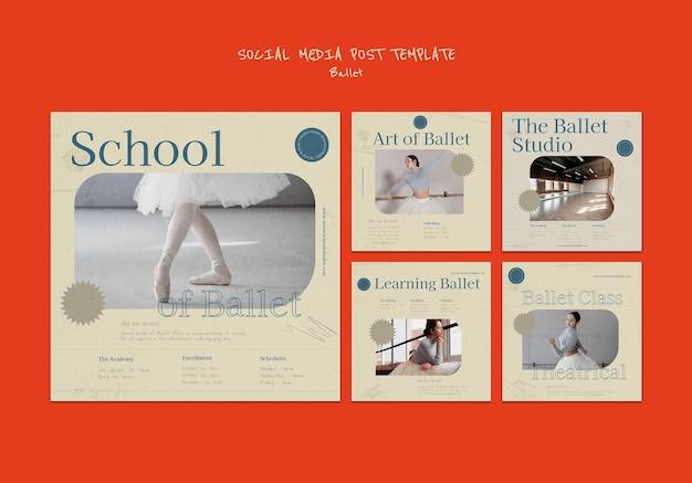 Baletowy szablon projektu postu w mediach społecznościowych