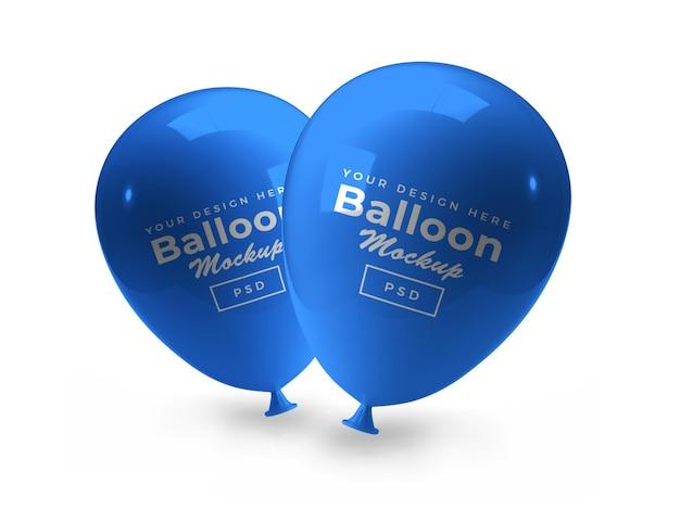 Balon 3d makieta na białym tle