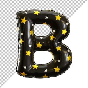 Balon foliowy z literą b czarny na halloween