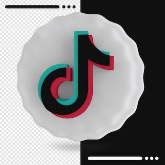 Balon i logo firmy tik tok 3d rendering