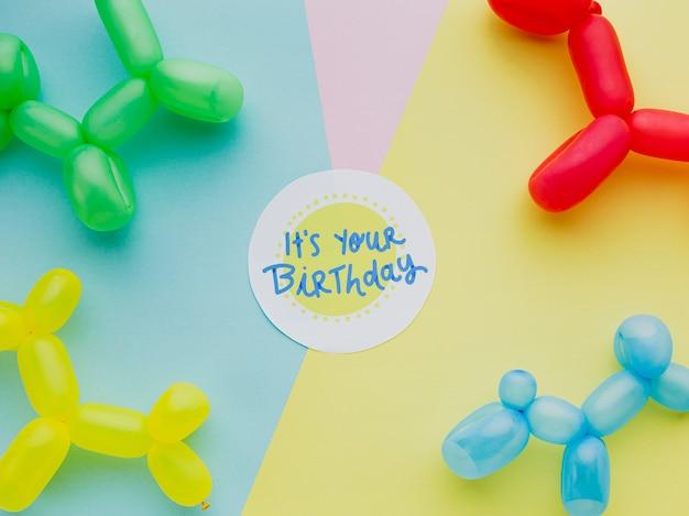 Balony urodzinowe z napisem