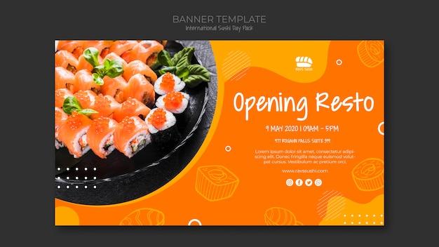 Baner Dla Restauracji Sushi Darmowe Psd