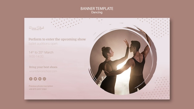 Baner dla wykonawców tańca