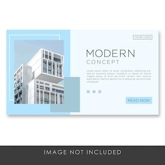 Baner docelowej strony architektura nowoczesna koncepcja szablonu
